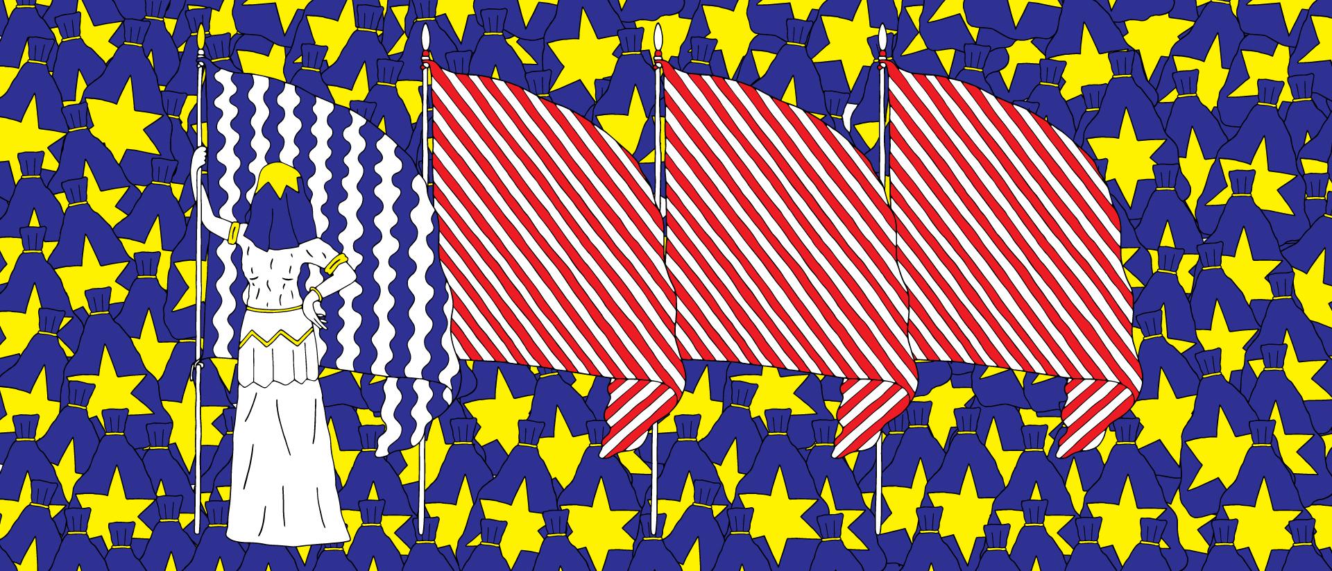 "Brexit (2016), Editorial illustration for the Dutch online newspaper ""de correspondent"""