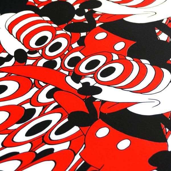 Mickey Mouse | Jip Piet | Print | Zeefdruk